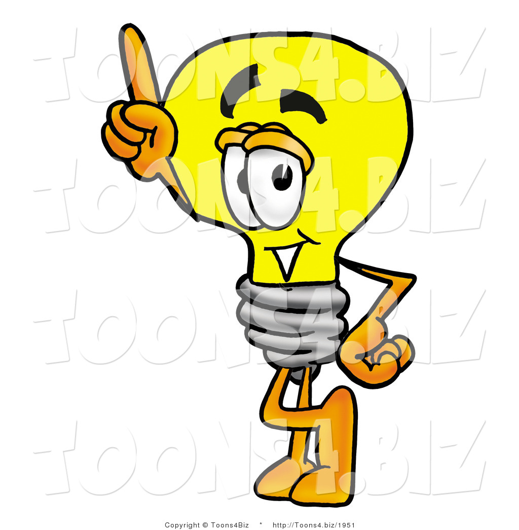 Cartoon Light Bulb http://toons4.biz/design/illustration-of-a-cartoon-light-bulb-mascot-pointing-upwards-by-toons4biz-1951