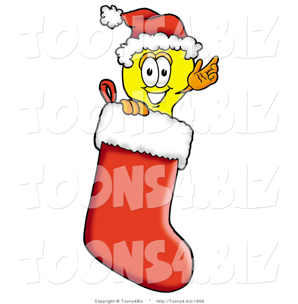 Cartoon Light Bulb http://toons4.biz/design/illustration-of-a-cartoon-light-bulb-mascot-wearing-a-santa-hat-inside-a-red-christmas-stocking-by-toons4biz-1959