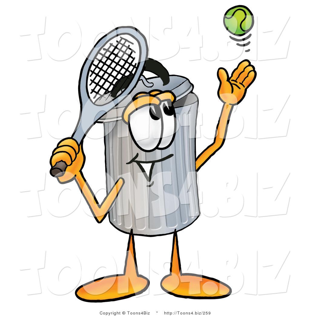 Tennis ball mascot stock photos tennis ball mascot stock photography - Illustration Of A Cartoon Trash Can Mascot Preparing To Hit A Tennis Ball Royalty Free Stock Illustration