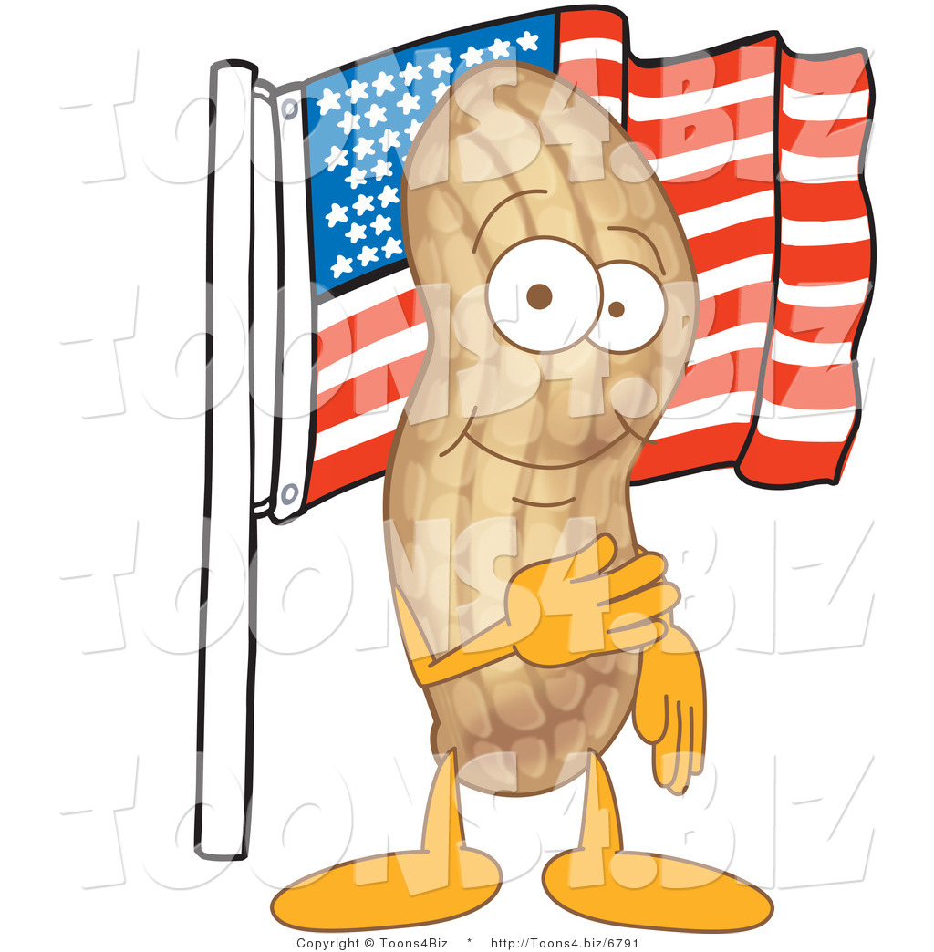 Image result for flag with a peanut