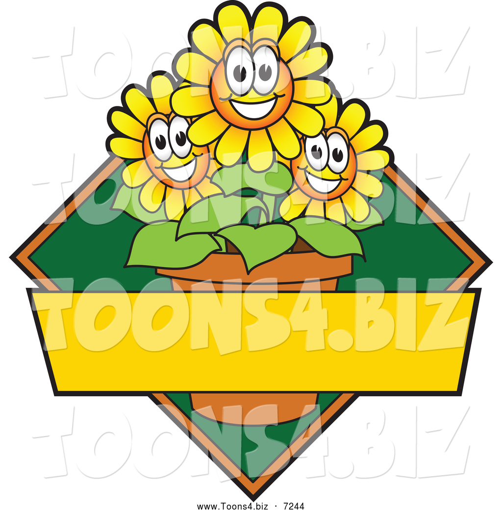 Vector Illustration Of A Happy Yellow Daisy Flower Mascot Character