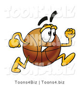Illustration of a Basketball Mascot Running by Toons4Biz