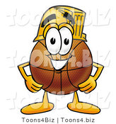 Illustration of a Basketball Mascot Wearing a Helmet by Toons4Biz