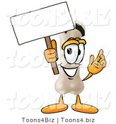 Illustration of a Bone Mascot Holding a Blank Sign by Toons4Biz