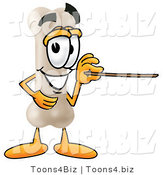 Illustration of a Bone Mascot Holding a Pointer Stick by Toons4Biz