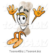 Illustration of a Bone Mascot Jumping by Toons4Biz