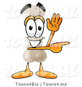 Illustration of a Bone Mascot Waving and Pointing by Toons4Biz