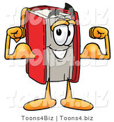 Illustration of a Book Mascot Flexing His Arm Muscles by Toons4Biz