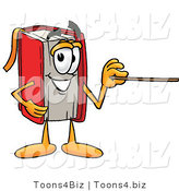 Illustration of a Book Mascot Holding a Pointer Stick by Toons4Biz