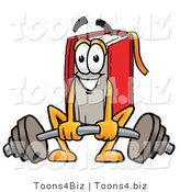Illustration of a Book Mascot Lifting a Heavy Barbell by Toons4Biz