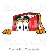 Illustration of a Book Mascot Peeking over a Surface by Toons4Biz