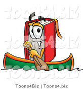 Illustration of a Book Mascot Rowing a Boat by Toons4Biz