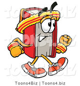 Illustration of a Book Mascot Speed Walking or Jogging by Toons4Biz