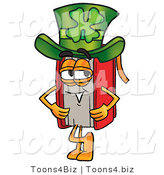 Illustration of a Book Mascot Wearing a Saint Patricks Day Hat with a Clover on It by Toons4Biz