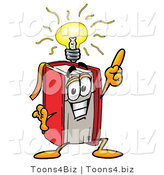 Illustration of a Book Mascot with a Bright Idea by Toons4Biz
