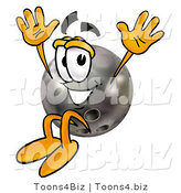 Illustration of a Bowling Ball Mascot Jumping by Toons4Biz