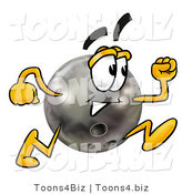 Illustration of a Bowling Ball Mascot Running by Toons4Biz