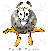 Illustration of a Bowling Ball Mascot Sitting by Toons4Biz