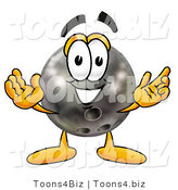 Illustration of a Bowling Ball Mascot with Welcoming Open Arms by Toons4Biz