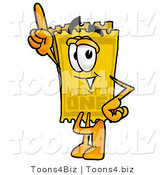 Illustration of a Cartoon Admission Ticket Mascot Pointing Upwards by Toons4Biz