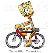Illustration of a Cartoon Broom Mascot Riding a Bicycle by Toons4Biz