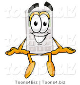 Illustration of a Cartoon Calculator Mascot Sitting by Toons4Biz