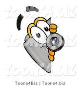 Illustration of a Cartoon Camera Mascot Peeking Around a Corner by Toons4Biz