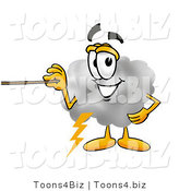 Illustration of a Cartoon Cloud Mascot Holding a Pointer Stick by Toons4Biz