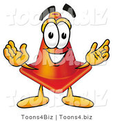 Illustration of a Cartoon Construction Safety Cone Mascot with Welcoming Open Arms by Toons4Biz