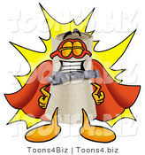 Illustration of a Cartoon Diploma Mascot Dressed As a Super Hero by Toons4Biz