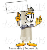 Illustration of a Cartoon Diploma Mascot Holding a Blank Sign by Toons4Biz