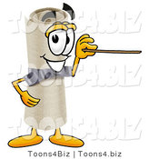 Illustration of a Cartoon Diploma Mascot Holding a Pointer Stick by Toons4Biz