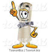 Illustration of a Cartoon Diploma Mascot Pointing Upwards by Toons4Biz