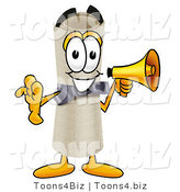 Illustration of a Cartoon Diploma Mascot Screaming into a Megaphone by Toons4Biz