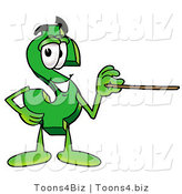 Illustration of a Cartoon Dollar Sign Mascot Holding a Pointer Stick by Toons4Biz