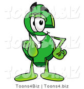 Illustration of a Cartoon Dollar Sign Mascot Pointing at the Viewer by Toons4Biz