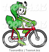 Illustration of a Cartoon Dollar Sign Mascot Riding a Bicycle by Toons4Biz