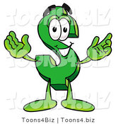 Illustration of a Cartoon Dollar Sign Mascot with Welcoming Open Arms by Toons4Biz