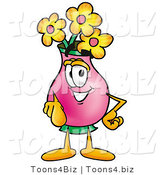 Illustration of a Cartoon Flowers Mascot Pointing at the Viewer by Toons4Biz