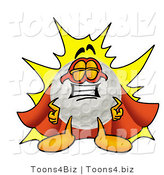 Illustration of a Cartoon Golf Ball Mascot Dressed As a Super Hero by Toons4Biz