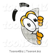 Illustration of a Cartoon Golf Ball Mascot Peeking Around a Corner by Toons4Biz