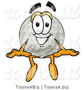 Illustration of a Cartoon Golf Ball Mascot Sitting by Toons4Biz