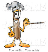 Illustration of a Cartoon Hammer Mascot Holding a Pointer Stick by Toons4Biz