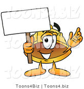 Illustration of a Cartoon Hard Hat Mascot Holding a Blank Sign by Toons4Biz