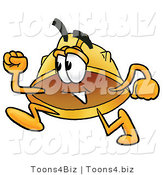 Illustration of a Cartoon Hard Hat Mascot Running by Toons4Biz