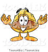 Illustration of a Cartoon Hard Hat Mascot with Welcoming Open Arms by Toons4Biz