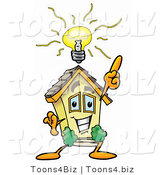 Illustration of a Cartoon House Mascot with a Bright Idea by Toons4Biz