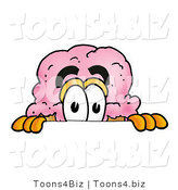 Illustration of a Cartoon Ice Cream Cone Mascot Peeking over a Surface by Toons4Biz
