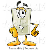 Illustration of a Cartoon Light Switch Mascot Pointing at the Viewer by Toons4Biz