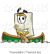 Illustration of a Cartoon Light Switch Mascot Rowing a Boat by Toons4Biz